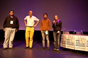 Mitglieder der Wikipedia-Forschungsinitiative Critical Point of View in Amsterdam