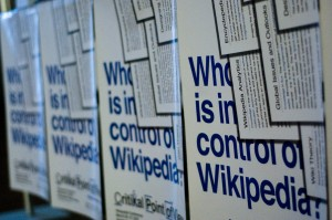 Poster der Wikipedia-Konferenz Critical Point of View in Amsterdam